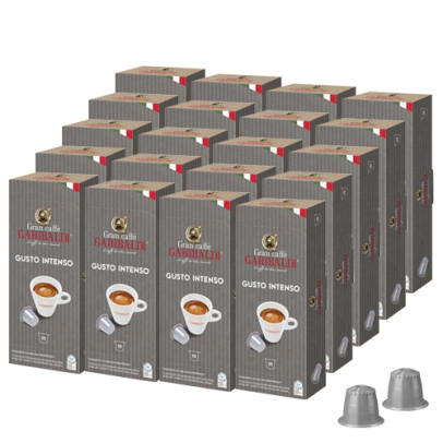 Gran Caffé Garibaldi Big Pack Gusto Intenso package and capsule for Nespresso®