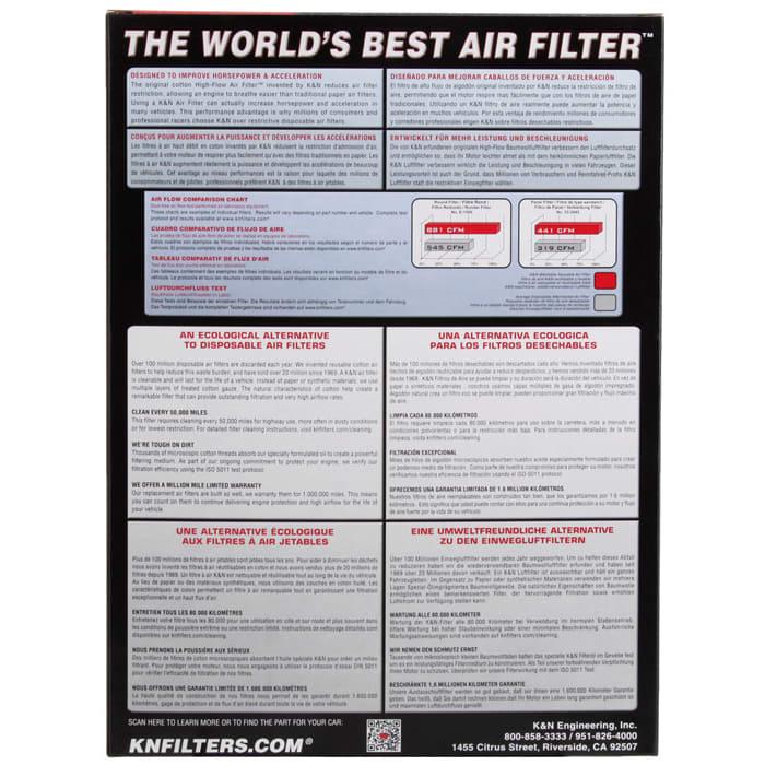 K/&N Filters 33-2976 Car Replacement Air Filter