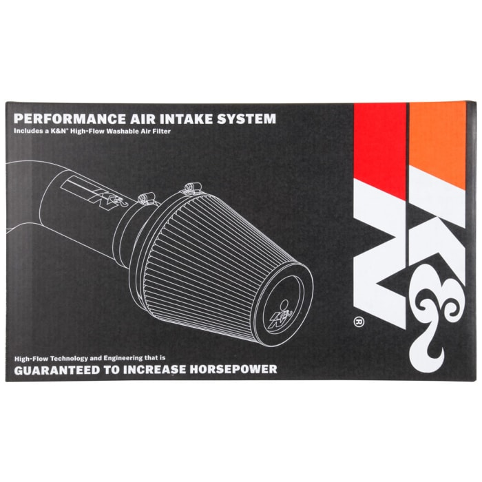 K/&N 77-3101KP Performance Air Intake System with Black Air Filter Wrap