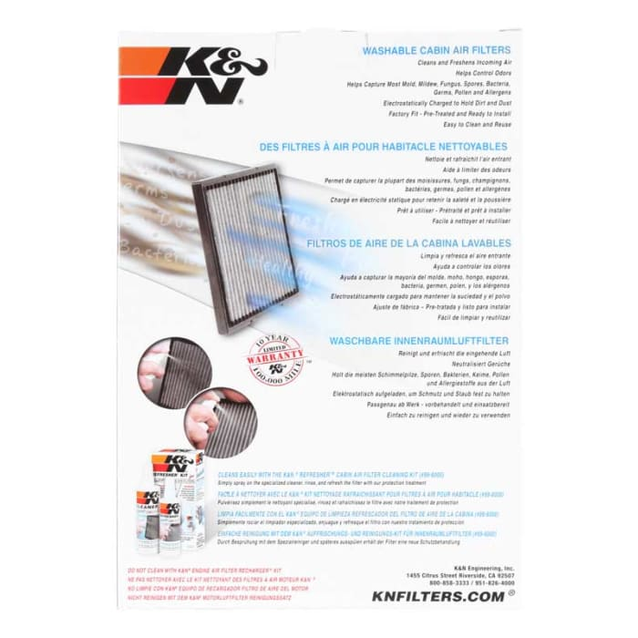 K/&N VF1017 Cabin Air Filter