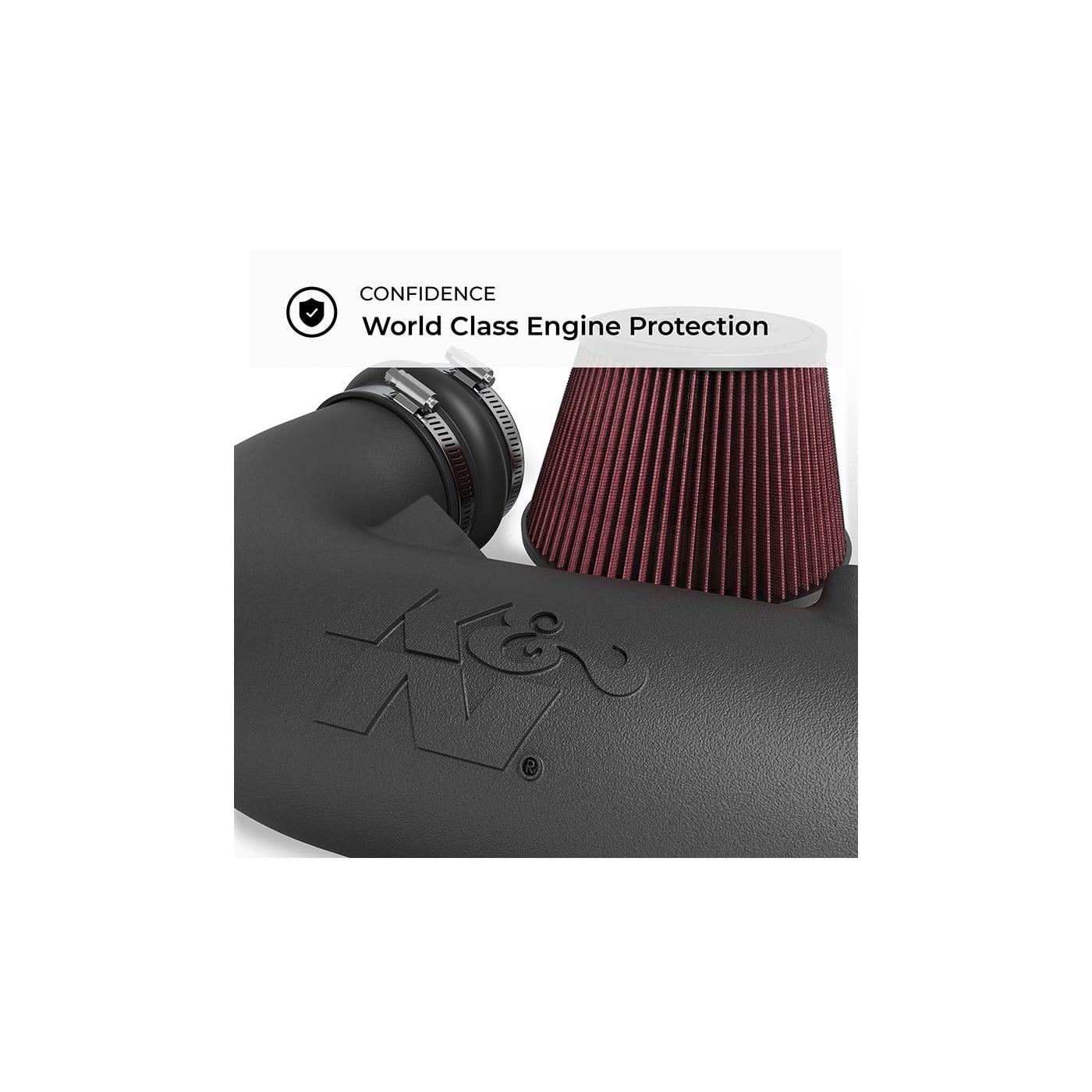 K/&N 57-2544 Performance Air Intake System with Black Air Filter Wrap