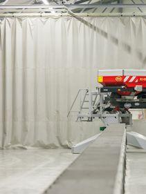 Kverneland Spreader Competance Centre, ultra modern test center, improved and accurate testing e