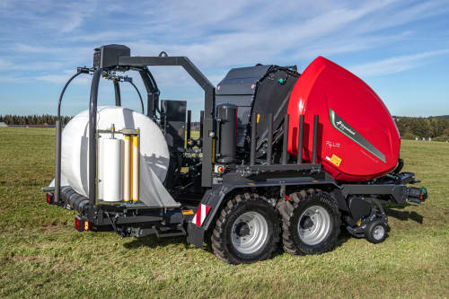 Variable Chamber Baler-Wrapper combinations - Kverneland 6716-6720 Plus FlexiWrap, operating cost efficient and providing high outputs on field
