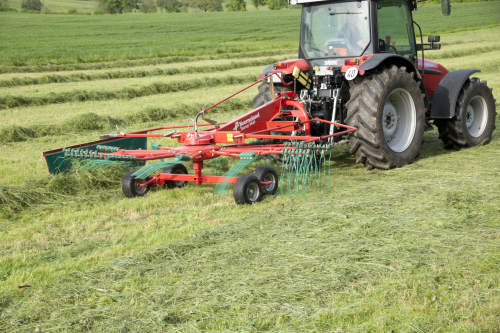 Single Rotor Rakes - Kverneland 9032 9035 9439 9442T 9443 9447T, compact and efficient during operating