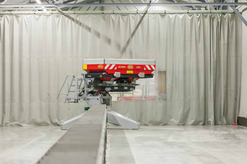 Disc Spreaders - Vicon Spreader Competence Center, modern testing center for Vicon spreaders in the Netherlands, environment friendly testing