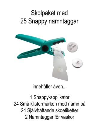 Skolpaket med Snappy Namntaggar