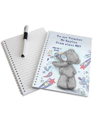 Personalised Teddy Teacher Notebook