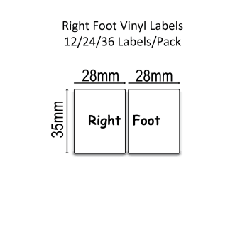 Right/left Foot™ Shoe Labels™