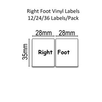 Right/left Foot™ Shoe Labels™