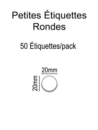 Petites Étiquettes Rondes