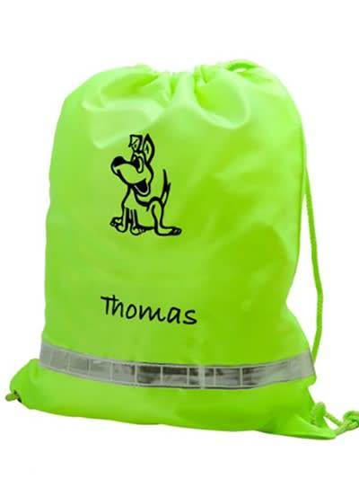 Personalised gym bags by labels4kids