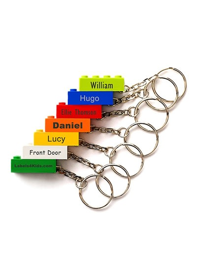 Personalised lego keyrings some colour options