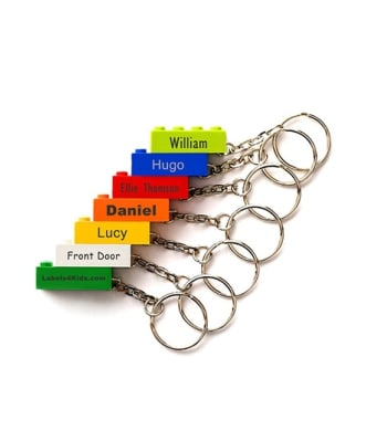 Personalised LEGO® Brick Keyrings