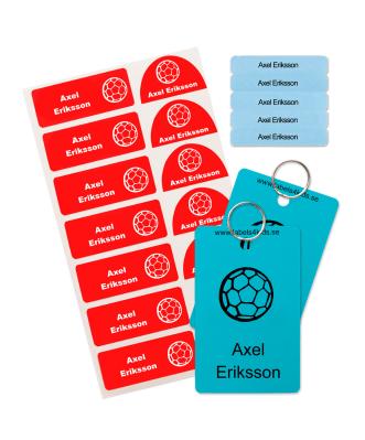 Skolpaket med Enkla Etiketter att Stryka Fast