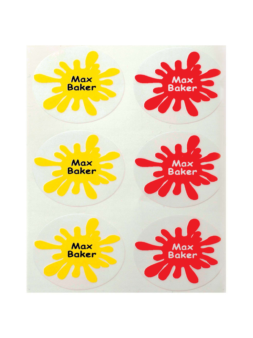 Small splat name labels