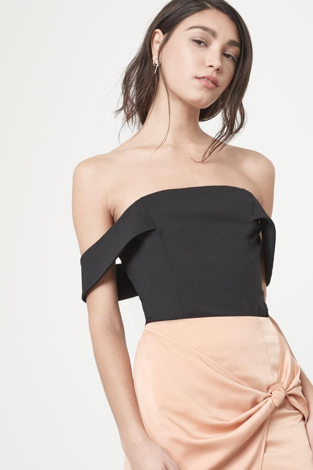 Bardot Bodysuit in Black