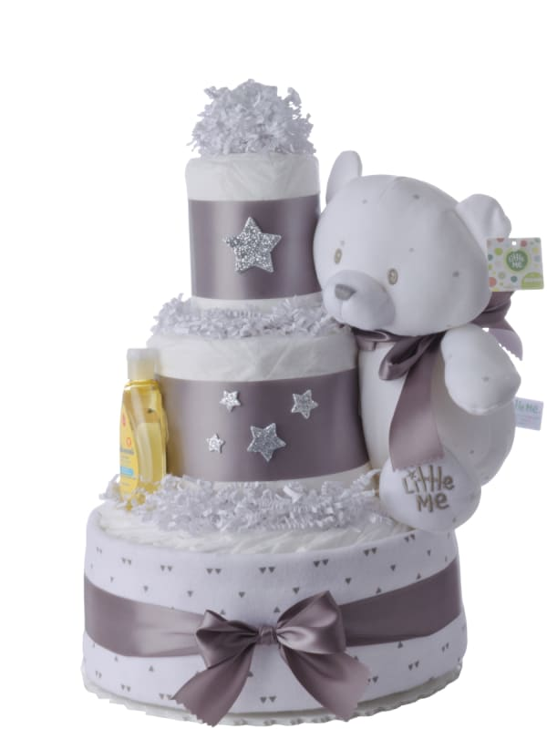 A Star is Born Neutral Diaper Cake