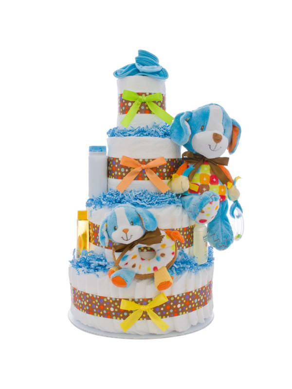Activity Puppy 4 Tier Diaper Cake