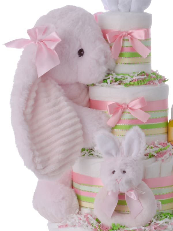 Lil' Cottontail Baby Diaper Cake for Girls