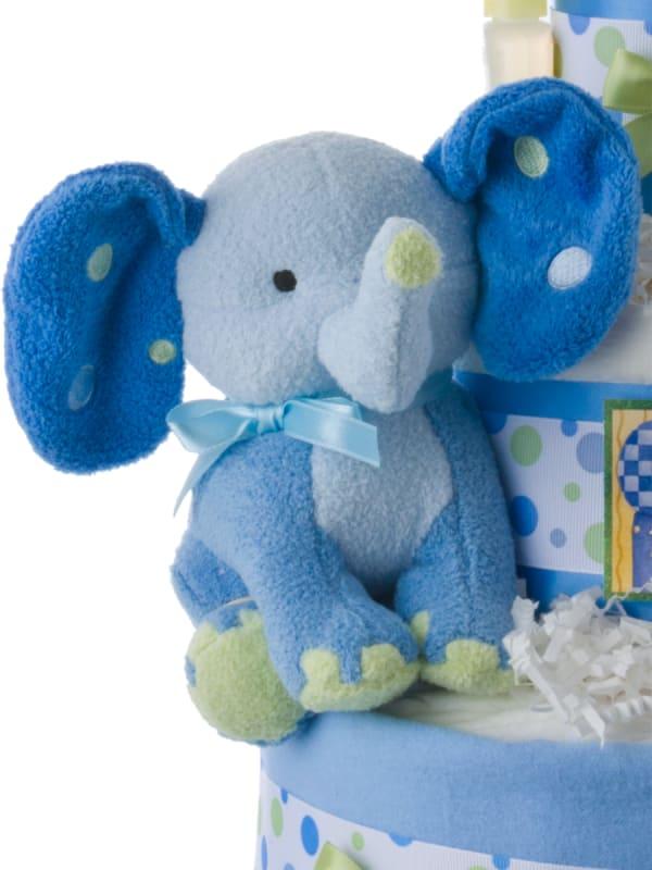 Lil' Blue Elephant 3 Tier Diaper Cake for Boys