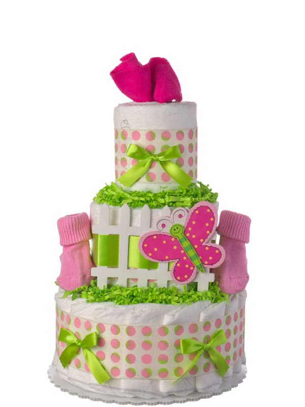 Garden Themed 3 Tier Diaper Cake