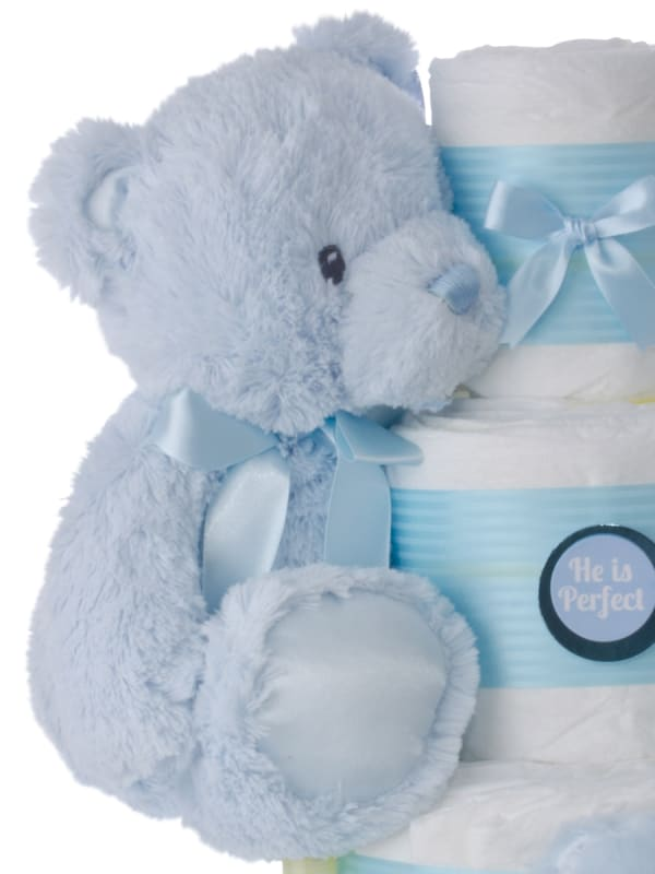 He's Perfect Boys Diaper Cake