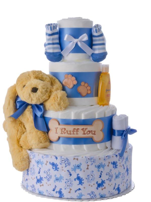 I Ruff You Baby Boy Diaper Cake