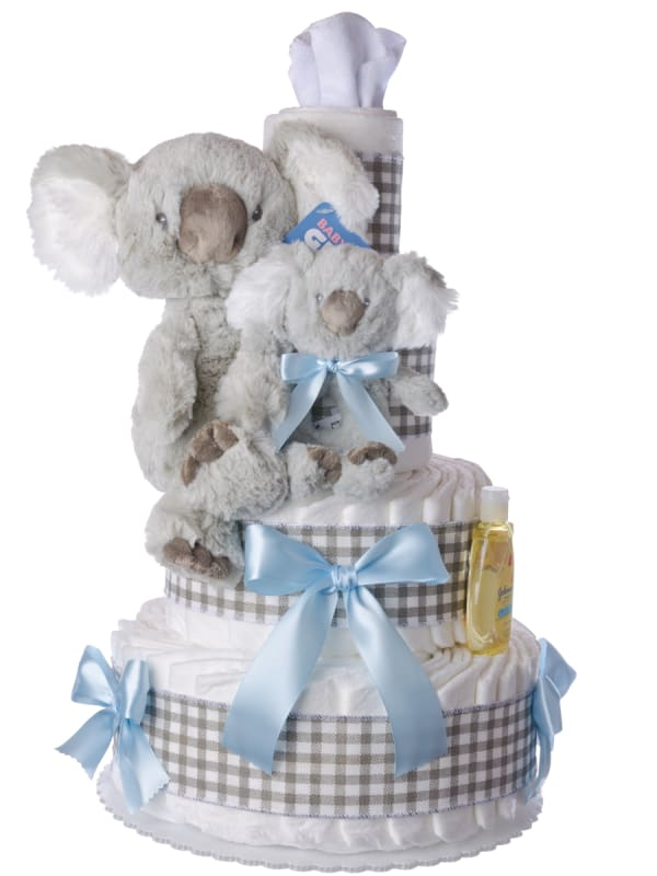 Koala Bear for Boys Diaper Cake