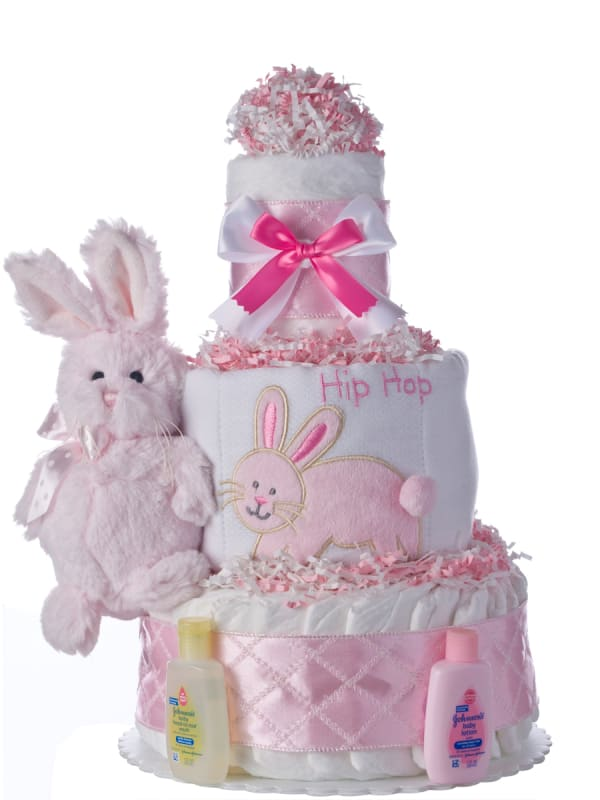 Lil' Cotton Ball Baby Diaper Cake