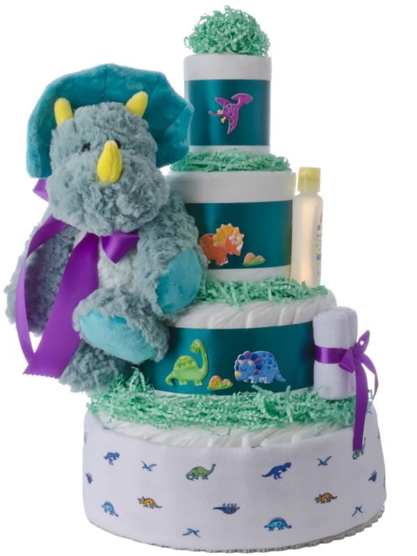 Lil' Dino Baby Diaper Cake