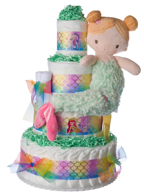 My Lil' Mermaid Girls Diaper Cake