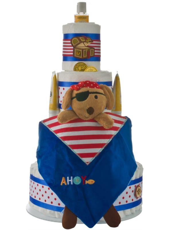 Lil Pirate 4 Tier Diaper Cake