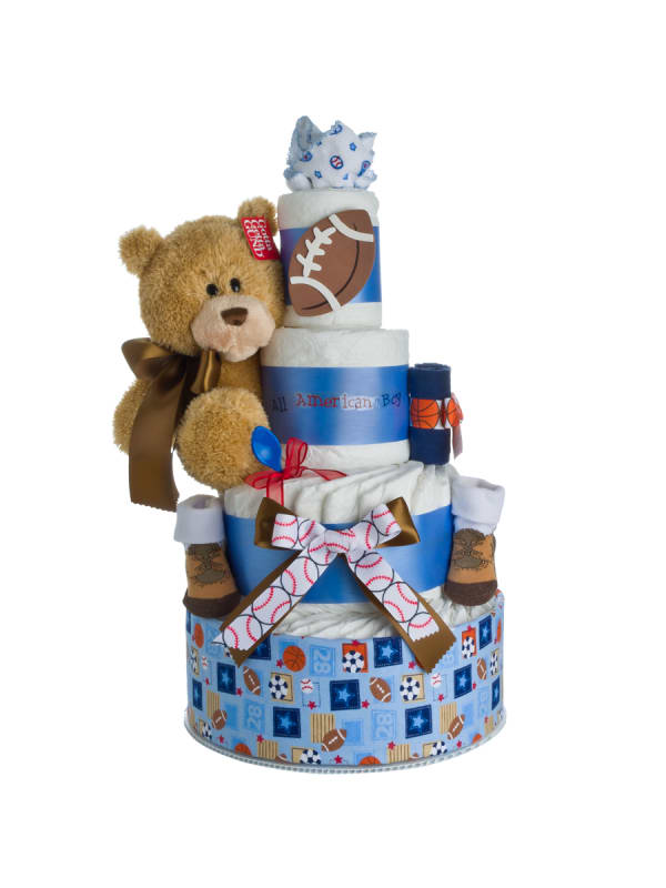 My Lil' Sport Diaper Cake