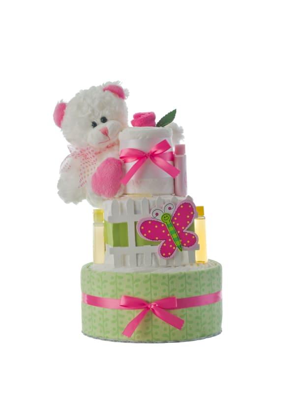 Our Lil' Garden Girl 3 Tier Diaper Cake