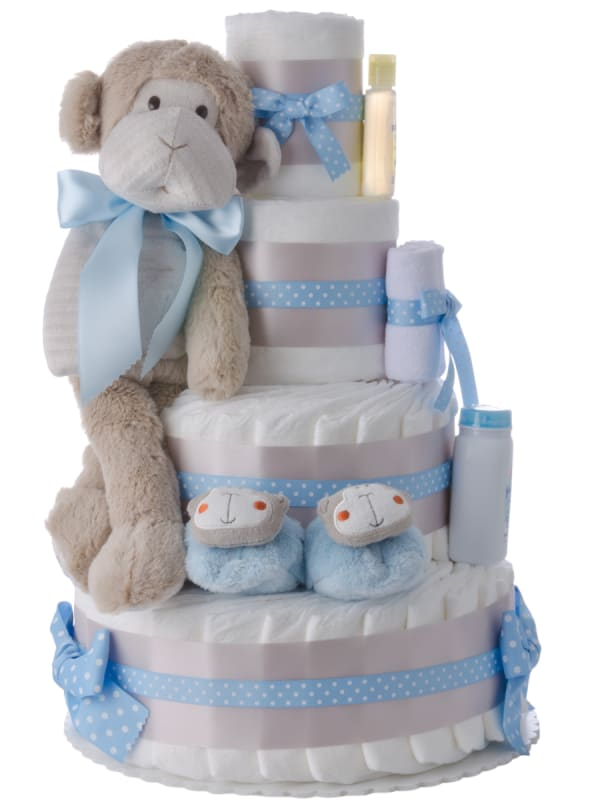 Silly Monkey Baby Diaper Cake