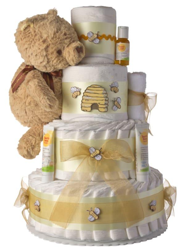 Winnie The Pooh 4 Tier Diaper Cake