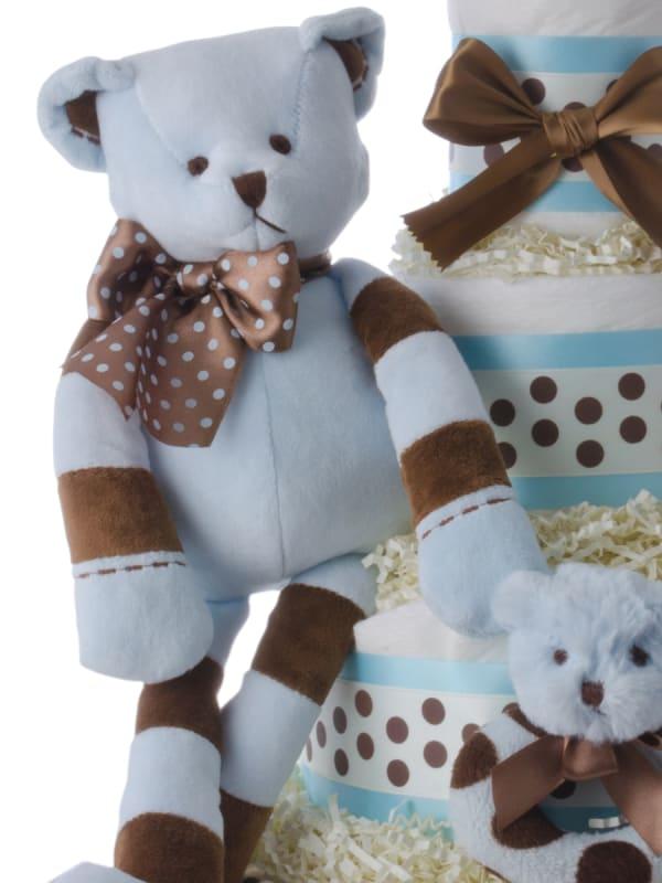 Ziggy the Bear Diaper Cake for Boys