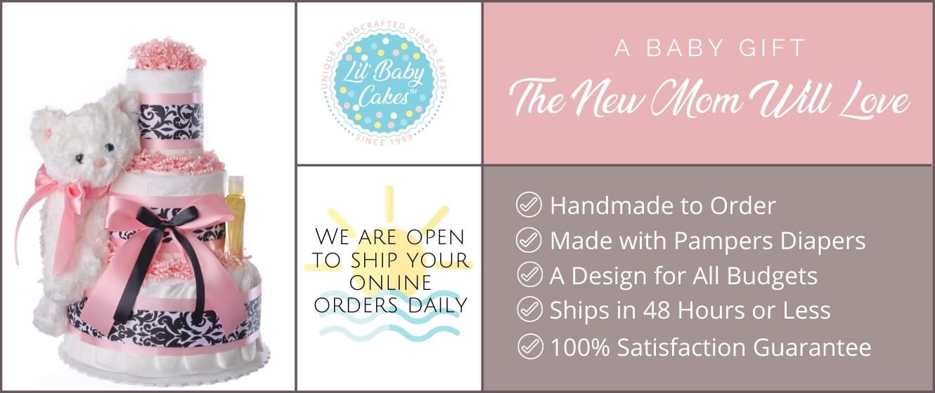 Lil Baby Cakes Home Diaper Cakes Banner