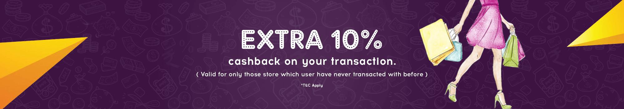 10 percent extra cashback