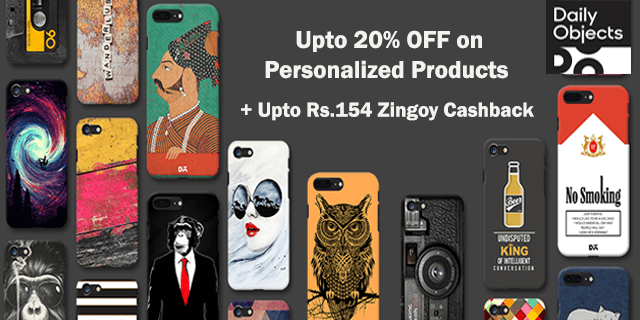 Dailyobjects   upto 20  off on personalized products xtzvxv