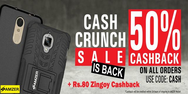 Amzer   50  cashback on all orders cash wceukr