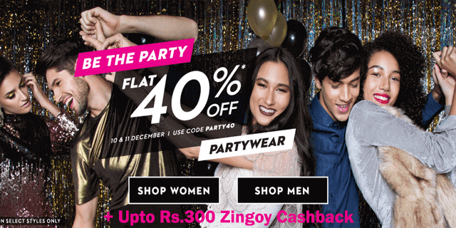 Koovs   flat 40  off on party wear party40 mbbymb
