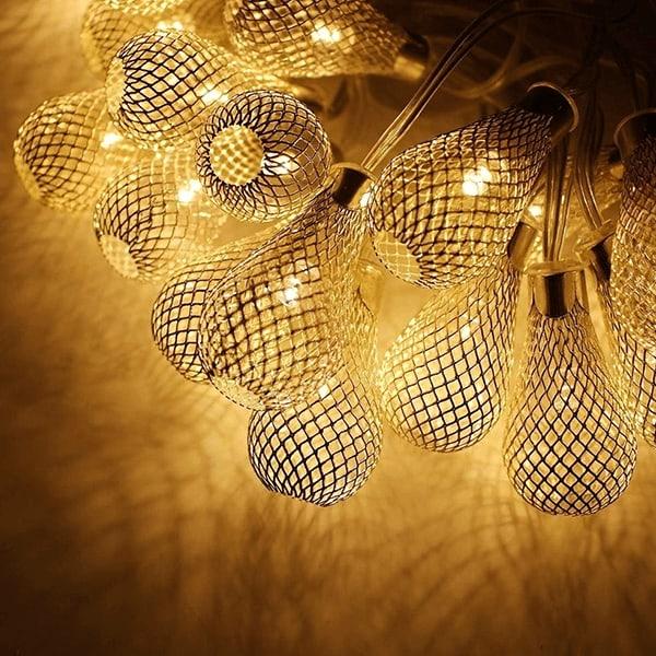 10 Led Golden String Light for Diwali Decoration