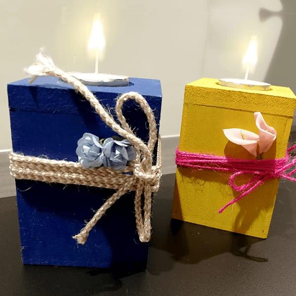Wooden candle holder slider 2 jroplh
