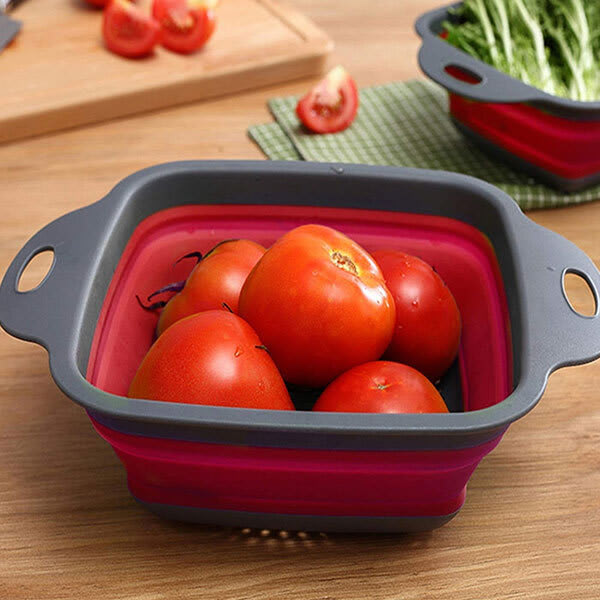Silicone collapsible colander or storage basket for fruits   vegetables slider3 yh2ani