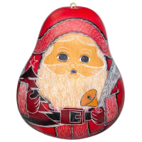 CRG312L Large Santa Gourd Ornament