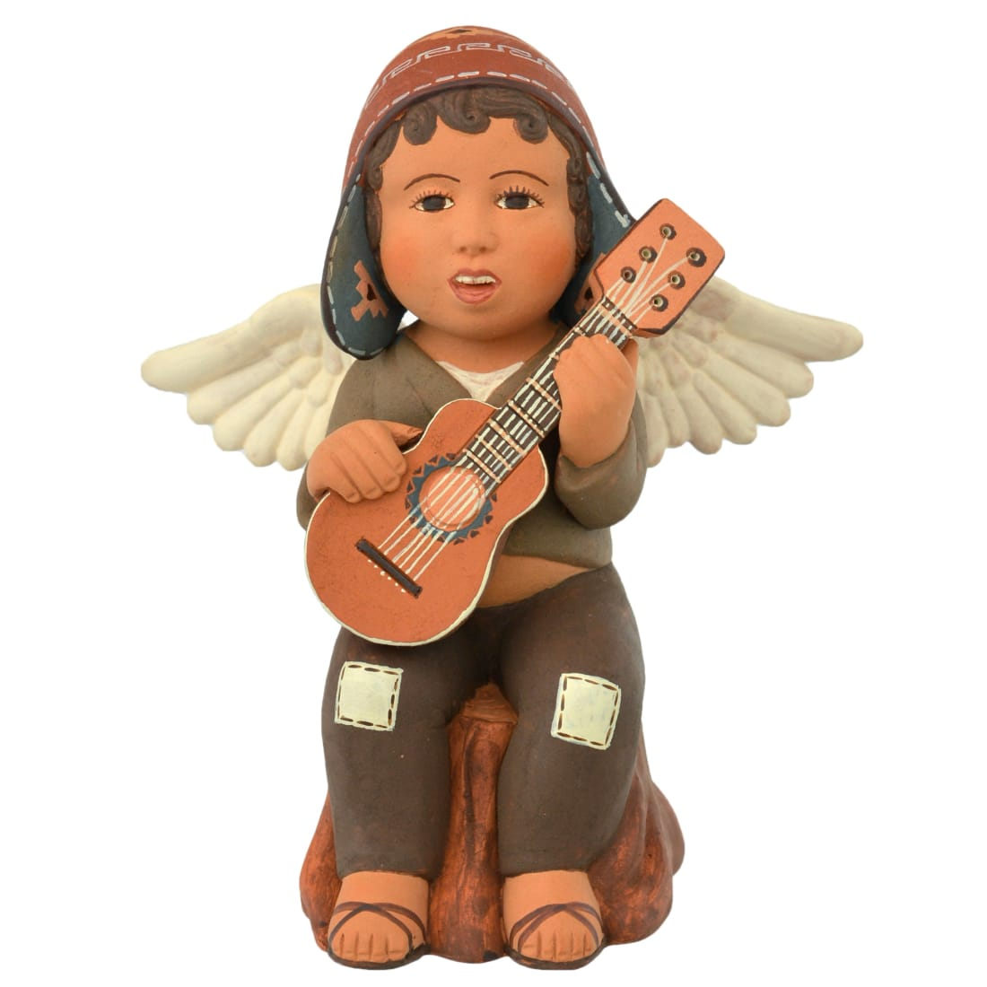 FVF119P Sitting Angel with Guitar