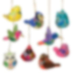 Confetti birds with new blue jay and robin.