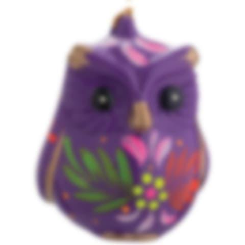 FCR115P Owl Confetti Ornament