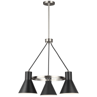 Towner Three Light Chandelier Brushed Nickel Bulbs Inc